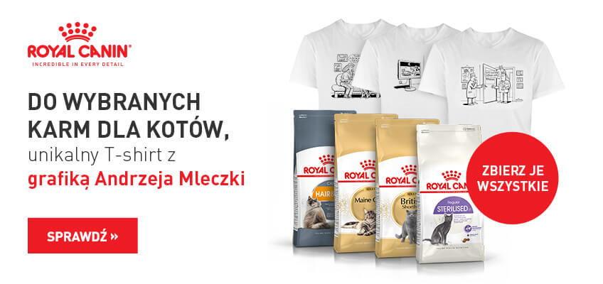 Royal Canin dla kota + unikalny T-Shirt z grafiką Andrzeja Mleczki