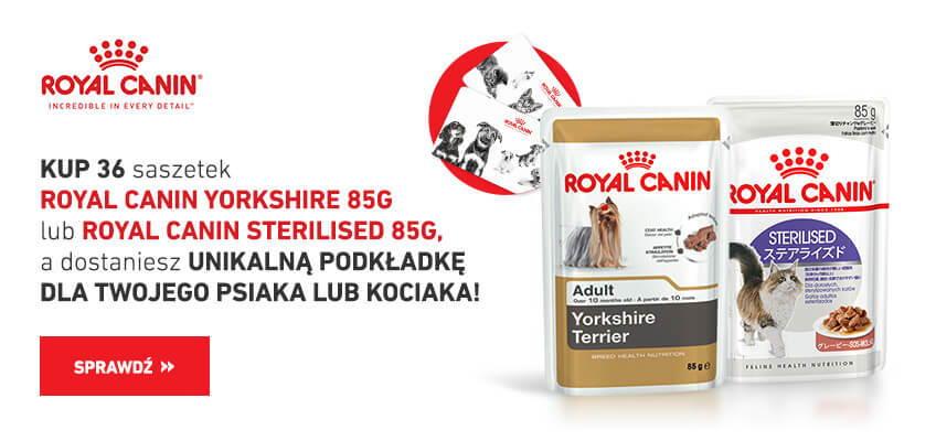Podkładka Royal Canin gratis do wybranych karm mokrych!