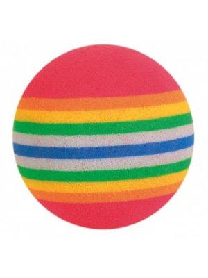 Piłki tęczowe twarde 3,5cm 4szt.