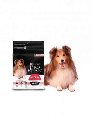 Purina Pro Plan Medium Adult Sensitive Skin Łosoś 3kg