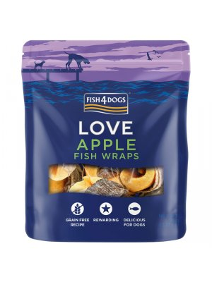 Fish4Dogs Apple Fish Wraps 90g