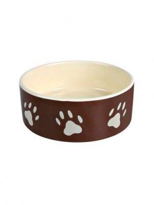 Trixie Miska Ceramiczna 1,4 l/ 20 cm Biała - brązowa