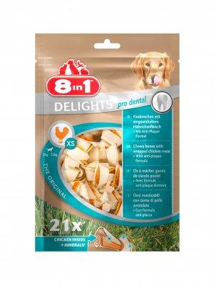 8in1 Dental Delights Bones XS 21szt.