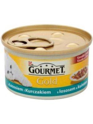PURINA GOURMET GOLD MUS ŁOSOŚ Z KURCZAKIEM 85g