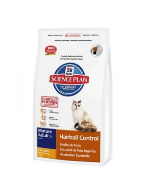 HILL'S SCIENCE PLAN HAIRBALL CONTROL ADULT MATURE 7+