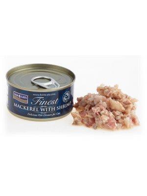 Fish4Cats Makrela z Krewetkami 70g