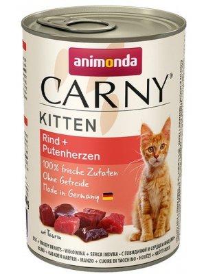 Animonda Carny Kitten Wołowina i Serca Indycze 400g