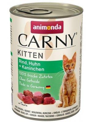 Animonda Carny Kitten Wołowina Kurczak i Królik 400g