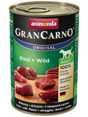 Animonda GranCarno Adult Dziczyzna i Wołowina 400 g