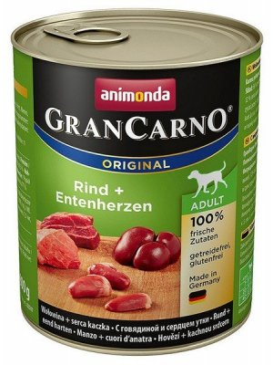 Animonda GranCarno Adult Wołowina i Kaczka 800 g
