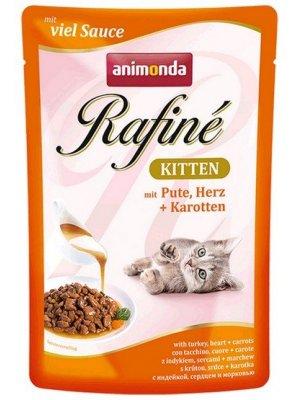 Animonda Rafine Soupe Kitten Indyk i Serca Drobiowe 100g