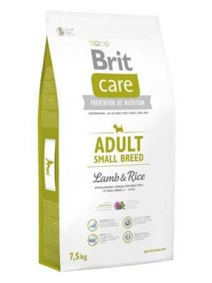 Brit Care Adult Small Jagnięcina z Ryżem 7,5 kg