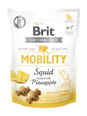 Brit Care Dog Functional Snack Mobiliy Squid 150g