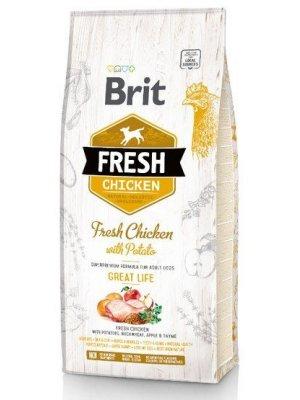 Brit Fresh Kurczak i Słodki Ziemniak 2,5kg