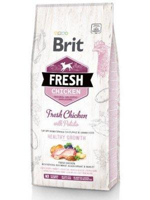 Brit Fresh Kurczak i Ziemniak dla szczeniąt 2,5kg