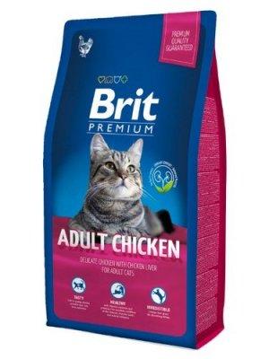 Brit Premium Cat Adult Kurczak 8kg