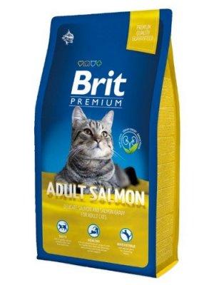 Brit Premium Cat Adult Łosoś 8kg