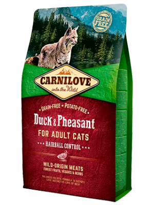Carnilove Cat Duck&Pheasant Hairball Control 2kg
