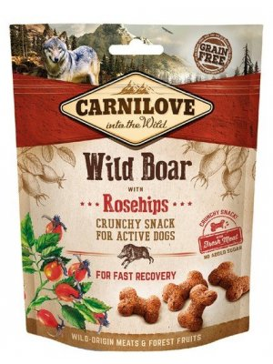 Carnilove Dog Snack Fresh Crunchy Wild Boar and Rosehips 200g