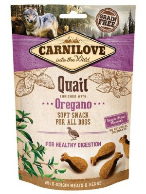 Carnilove Dog Snack Fresh Soft Quail and Oregano 200g