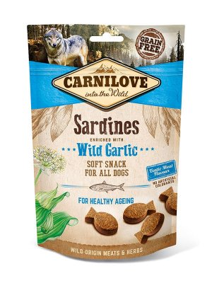 Carnilove Dog Snack Fresh Soft Sardines and Wild Garlic 200g