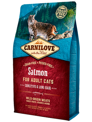 Carnilove Salmon Sensitive&Long Hair 6kg