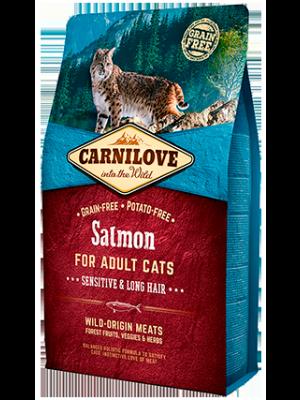 Carnilove Salmon Sensitive&Long Hair 6kg