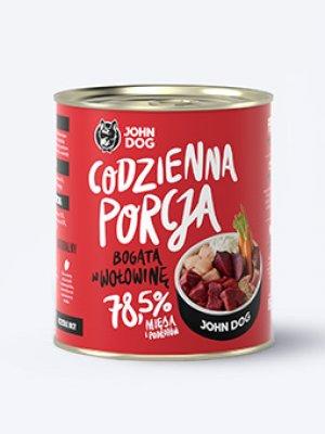 John Dog Karma Mokra Codzienna Porcja Bogata w Wołowinę 850g