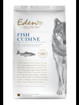 EDEN FISH CUISINE – Karma dla Szczeniaków i Psów Dorosłych Szkocki Łosoś i Śledź Północnoatlantycki - Rasy Średnie i Duże 12kg