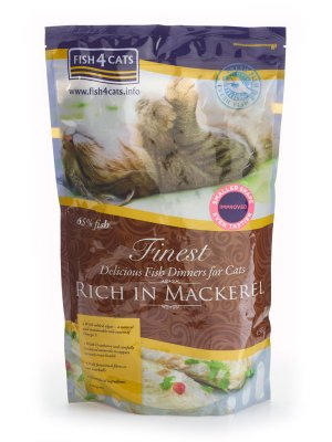Finest Fish4Cats Mackerel - Karma z Makreli 1,5kg
