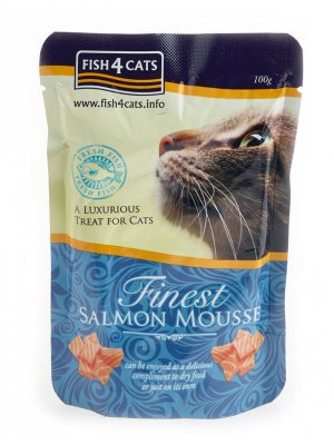 Finest Salmon Mousse for Cats - Mus z Łososia w saszetkach 100g