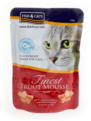 Finest Trout Mousse for Cats - Mus z Pstrąga w saszetkach 100g