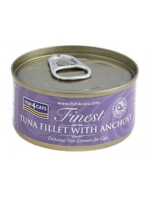 Fish4Cats Filety Tuńczyka z Anchois 70g