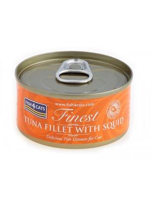 Fish4Cats Filety Tuńczyka z Kałamarnicami 70g