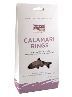 Fish4Dogs Calamari Rings 75 g