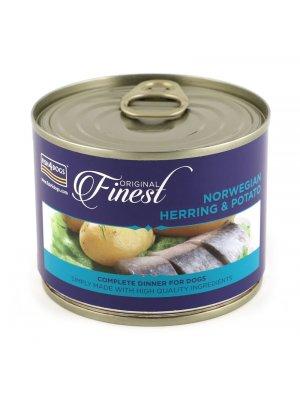 Fish4Dogs Herring Wet Complete Food - Karma ze śledzia i ziemniaków 185 g