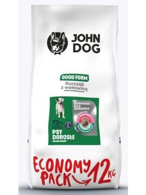 John Dog Karma Sucha Good Form Kurczak z Wołowiną dla Małych Psów 12kg