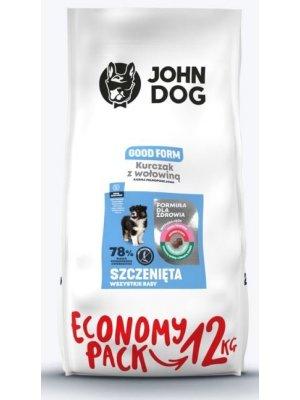 John Dog Karma Sucha Good Form Puppy Kurczak z Wołowiną 12kg
