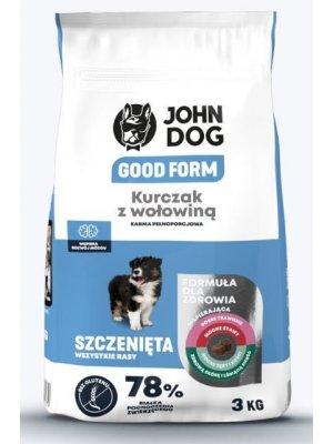 John Dog Karma Sucha Good Form Puppy Kurczak z Wołowiną 3kg
