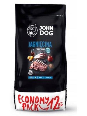 John Dog Karma Sucha Premium Jagnięcina z Warzywami Light dla psów dorosłych i seniorów 3kg