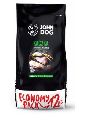 John Dog Karma Sucha Premium Kaczka z Królikiem i Warzywami dla Psów Średnich i Dużych 12kg