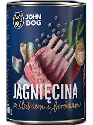 John Dog Karma Mokra Berry Line Junior Jagnięcina ze Śledziem i Borówkami 400g