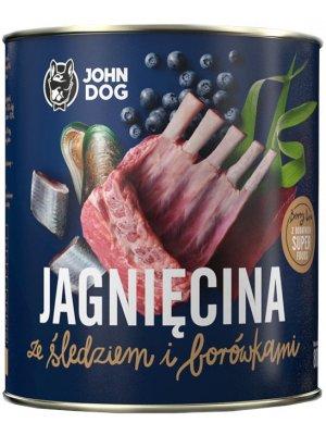 John Dog Karma Mokra Berry Line Junior Jagnięcina ze Śledziem i Borówkami 800g