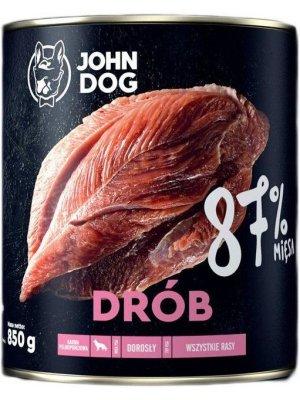 John Dog Karma Mokra Premium Drób 87% 850g