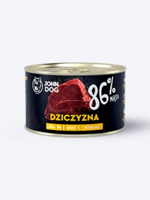 John Dog Karma Mokra Premium Dziczyzna 86% 410g