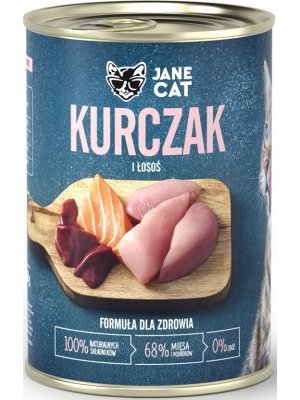 Jane Cat (John Dog) Karma Mokra Premium Jane Cat Kurczak i Łosoś 400g