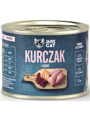 Jane Cat (John Dog) Karma Mokra Premium Jane Cat Kurczak i Łosoś 200g