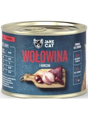 Jane Cat (John Dog) Karma Mokra Premium Jane Cat Wołowina i Kurczak 200g