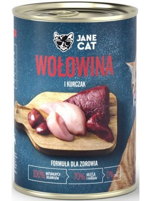 Jane Cat (John Dog) Karma Mokra Premium Jane Cat Wołowina i Kurczak 400g