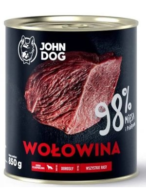 John Dog Karma Mokra Premium Wołowina 98% 850g